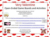 Very Valentine Open-Ended Game Boards and Activities