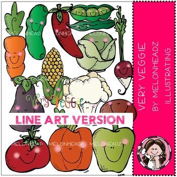 Very Veggie by Melonheadz LINE ART