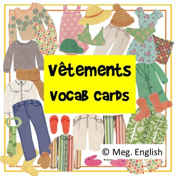 Vêtements - French Clothes Vocabulary Flashcards