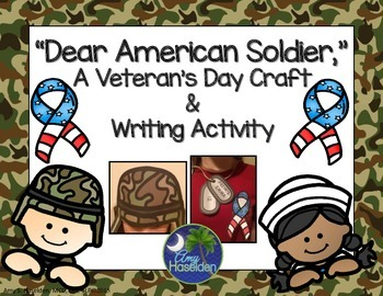 Veterans Day Craft Helmet Writing Dog Tags Flag Ribbon Wearables
