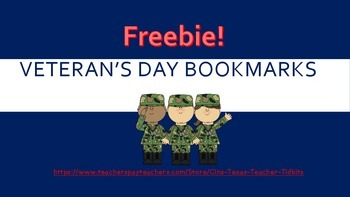 Veteran's Day Bookmarks