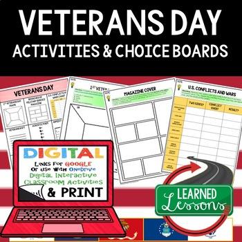 Veterans Day Choice Board FREE
