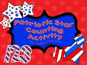 Veteran's Day Patriotic Stars Counting Activity