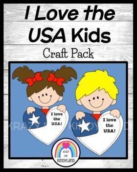 Veteran's Day / US Symbols Craft: I Love the USA Kids