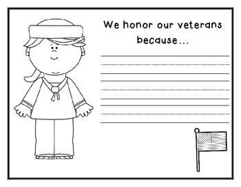 Veteran's Day Writing Activity