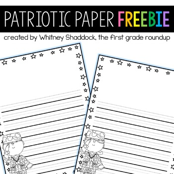 Veteran's Day Writing Paper FREEBIE