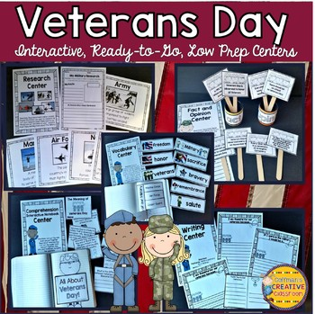 Veterans Day Activities for Reading, Writing, Word Study,