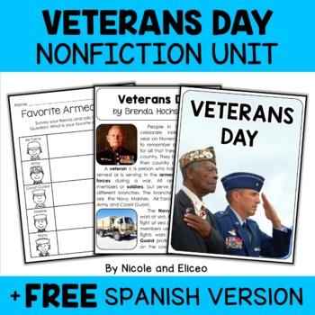 Nonfiction Veterans Day Unit Activities