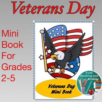 Veterans Day Mini Book - Fill and Color