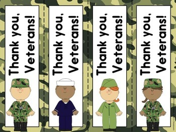 Veterans Day FREE Bookmarks