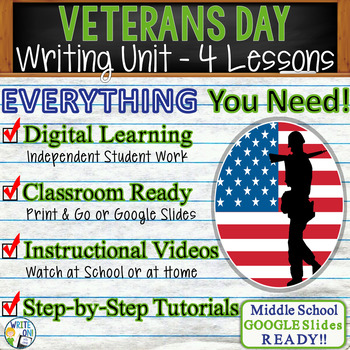 Veterans Day Writing BUNDLE! - Argumentative, Persuasive,