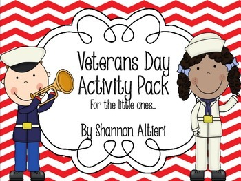 Veteran's Day Activity Pack {for the little ones!}