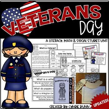 Veterans Day Integrated Unit: Math, Writing, Phonics, Read