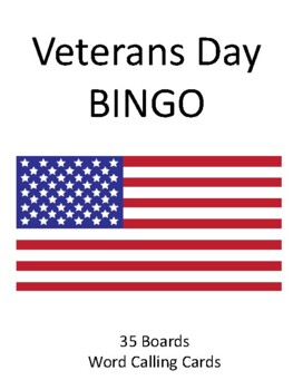Veteran's Day BINGO!