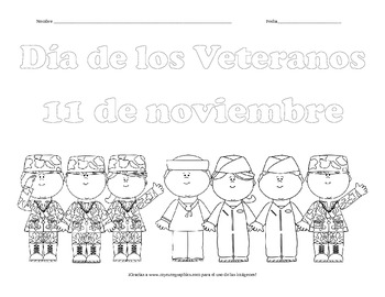 Veterans Day Coloring Page - SPANISH