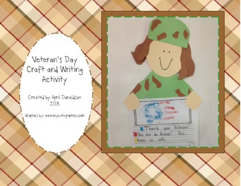 Veterans Day Craft and Writing Activity