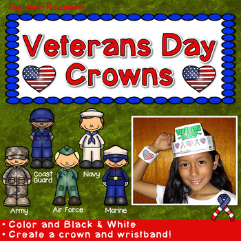 Veterans Day Craft Activity : Crowns and Wristbands