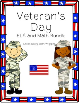 Veteran's Day ELA and Math Bundle