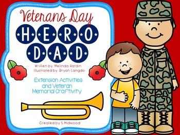 """Veterans Day """"Hero Dad"""" Extension Activities"""