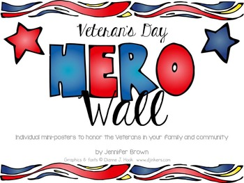Veteran's Day Hero Wall Mini Poster Set