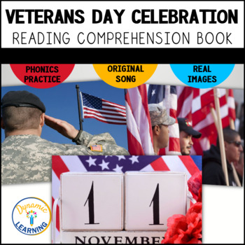 Veterans Day Interactive Vocabulary Book and Song with Com