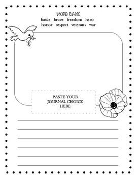Veterans Day Journal Prompt