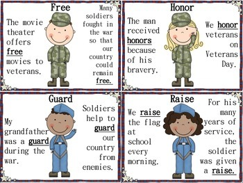 Veterans Day Language and Articulation Bundle