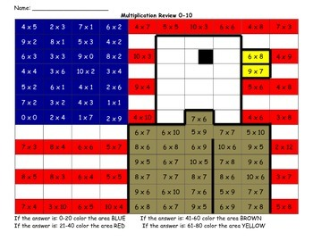 Veteran's  Day Multiplication Review 0-1