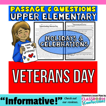 Veterans Day: Reading Passage and Questions: Reading Compr