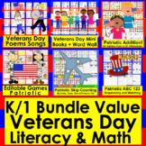 Veterans' Day Activities Math and Literacy Bundle Value Sa