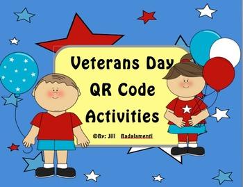 Veterans Day QR Code Activities