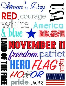 Veterans Day Subway Chart