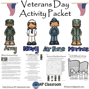 Veterans Day / U.S. Armed Forces Activity Packet