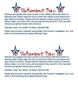 Veterans Day Veterans in Family