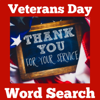 Veterans Day Activity | Veterans Day Word Search