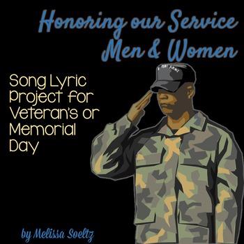 Veteran's Day and Memorial Day - Song Lyrics Close Reading