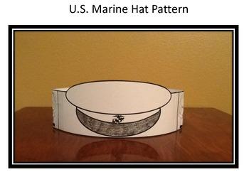 Veterans Day/Memorial Day U.S. Marines Hat Pattern