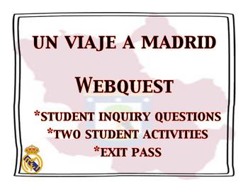Viaje a Madrid Webquest