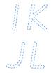 Vic Cursive Uppercase Cutout Letters