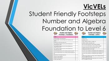VicVELs Child Friendly Number and Algebra Footsteps Founda