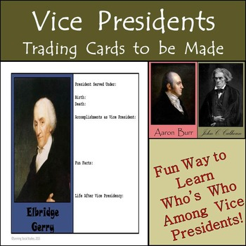 Vice Presidents of the United States - 47 Trading Cards to