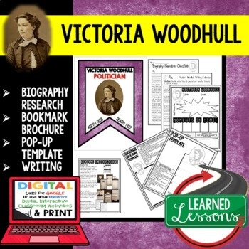 Victoria Woodhull Biography Research, Bookmark Brochure, P