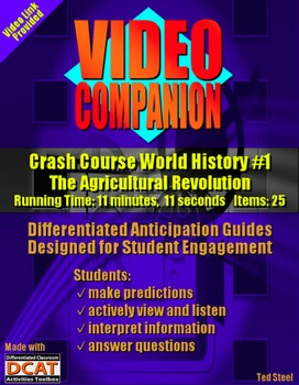 Video Companion: Crash Course World History #1, The Agricu