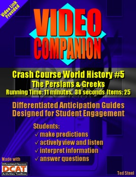 Video Companion: Crash Course World History #5, The Persia