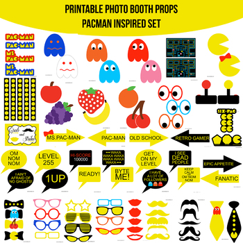 Video Game Classic Printable Photo Booth Prop Set