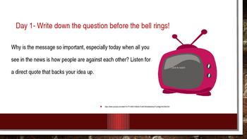 Video Journal Writing Prompts/Bellringer