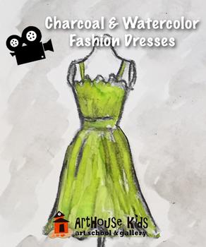 Video: Vintage Watercolor/Charcoal Dresses
