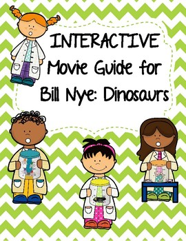 Video Worksheet (Movie Guide) for Bill Nye - Dinosaurs QR
