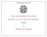 Video/Multimedia Presentation Think Sheet_Common Core ELA