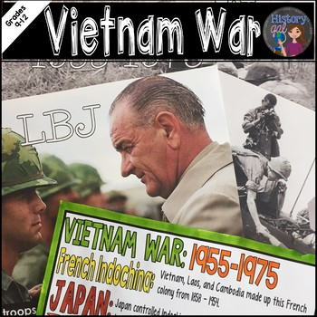 Vietnam War Coloring Page and Review Activity